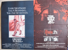 Dressed to Kill / Amityville Horror UK Quad Poster